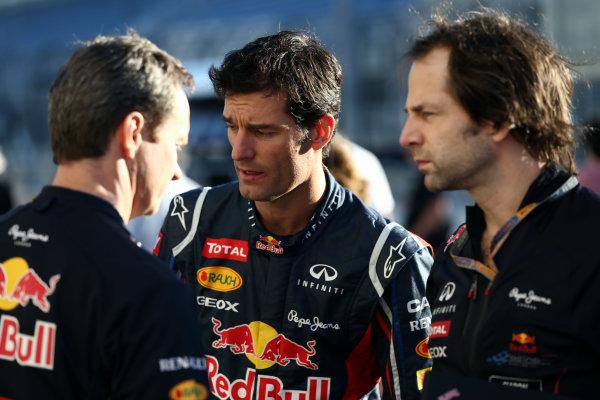 Interlagos, Sao Paulo, Brazil. Thursday 22nd November 2012. Mark Webber, Red Bull Racing.  World Copyright: Andy Hone/LAT Photographic ref: Digital Image HONY0273