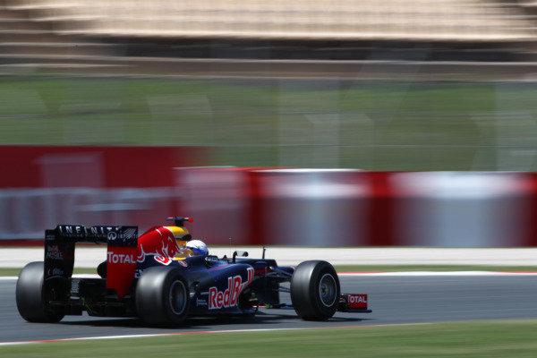 Circuit de Catalunya, Barcelona, Spain11th May 2012Sebastian Vettel, Red Bull RB8 Renault. World Copyright:Andy Hone/LAT Photographicref: Digital Image  HONY9132