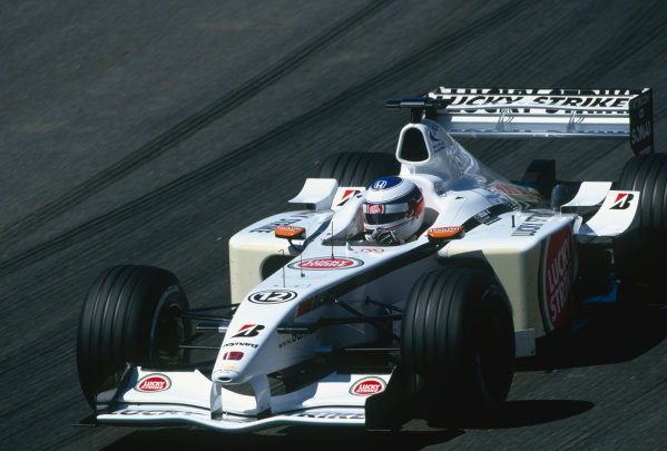 2002 Brazilian Grand Prix.Interlagos, Sao Paulo, Brazil. 29-31 March 2002.Olivier Panis (B.A R. 004 Honda).Ref-02 BRA 61.World Copyright - PICME/LAT Photographic