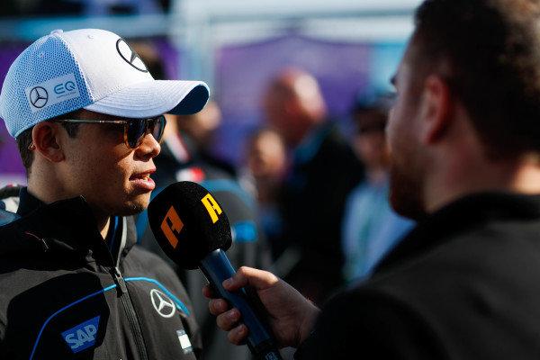 Nyck De Vries (NLD), Mercedes Benz EQ, talks to the press