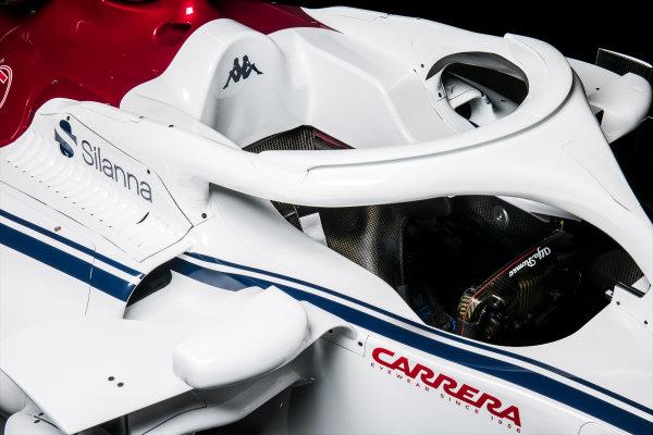 The new Alfa Romeo Sauber C37 cockpit and halo, Hinwil, Switzerland, 20 February 2018.