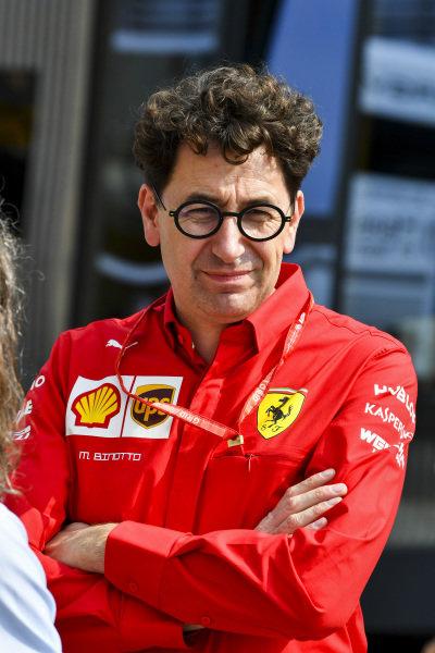 Mattia Binotto, Team Principal Ferrari in the paddck