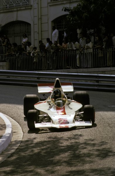 Graham Hill (GBR) Shadow DN1 retired on lap 63 with a damaged suspension.Monaco Grand Prix, Monte Carlo, 3 June 1973.BEST IMAGE