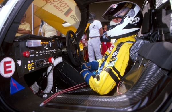 Johnny Dumfries (GBR) in the cockpit of the TOM'S Toyota 89 CV.World Sportscar Championship, 1989.BEST IMAGE