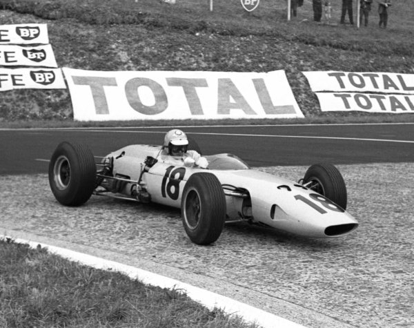 1964 French Grand Prix.Rouen-les-Essarts, France.26-28 June 1964.Trevor Taylor (BRP 2 BRM).World Copyright - LAT Photographic