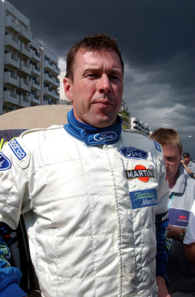 World Rally Championship, Cyprus Rally, April 18-21, 2002.Colin McRae waits to enter the regroup after Stage 12 on Leg 2.Photo: Ralph Hardwick/LAT