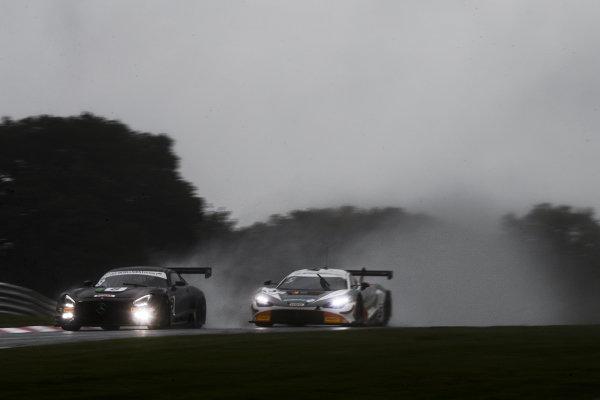 #8 Richard Neary / Sam Neary - Team Abba Racing Mercedes-AMG GT3 Evo and #5 Stewart Proctor / Lewis Proctor - Balfe Motorsport McLaren 720S GT3