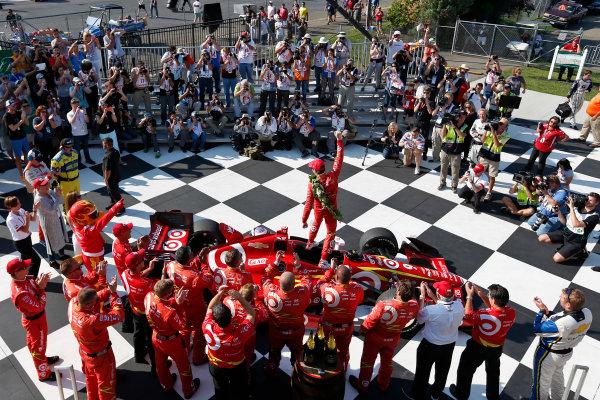 2-4 September, 2016, Watkins Glen, New York USA Scott Dixon celebrates in victory lane ?2016, Sam Cobb LAT Photo USA