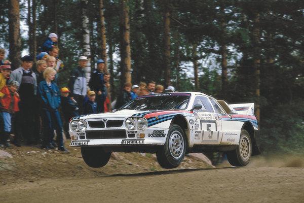 1000 Lakes Rally, Finland. 23rd - 25th August 1985. Henri Toivonen/Juha Piironen (Lancia 037 Rally), 4th position, action. World Copyright - LAT Photographic