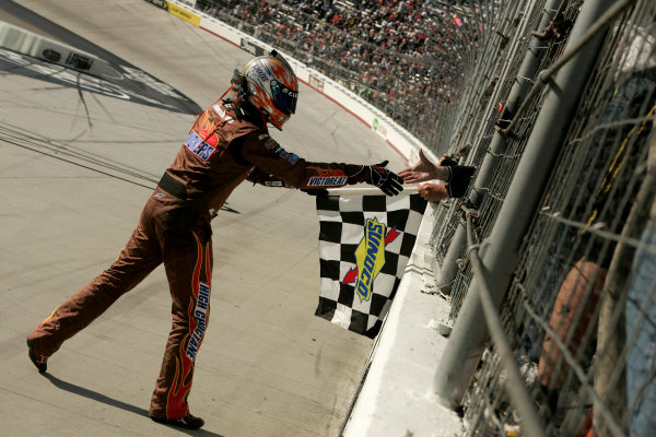 20-22 March 2009, Bristol, Tennessee, USA Kyle Busch celebrates after winning at Bristol Motor Speedway © 2009 - LAT South, USA LAT Photographic