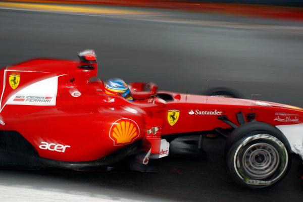 Spa-Francorchamps, Spa, Belgium25th August 2011.Fernando Alonso, Ferrari 150° Italia. Action. World Copyright: Steven Tee/LAT Photographicref: Digital Image _A8C5001