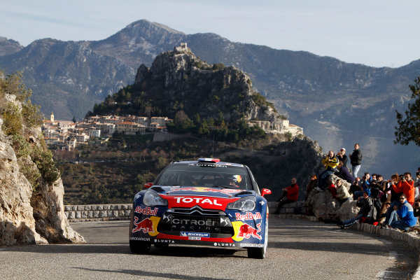 Round 01-Rally Monte Carlo 17-22 January 2012. Sebastien Loeb, Citroen WRC, ActionWorldwide Copyright: McKlein/LAT