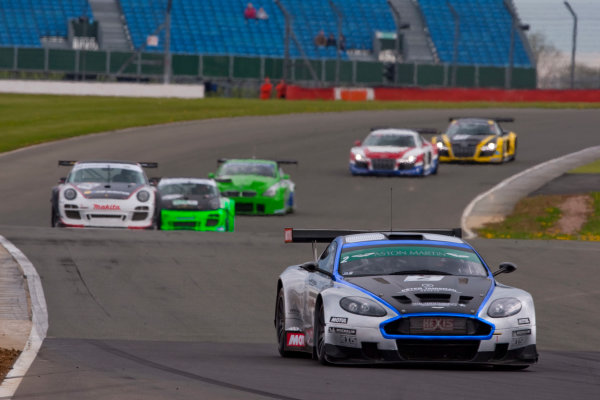 Silverstone, England. 30th April - 2nd May 2010.Luc Paillard / Thomas Accary (Hexis AMR Aston Martin DBRS9). Action. World Copyright: Alastair Staley/LAT PhotographicRef: _O9T6387 jpg