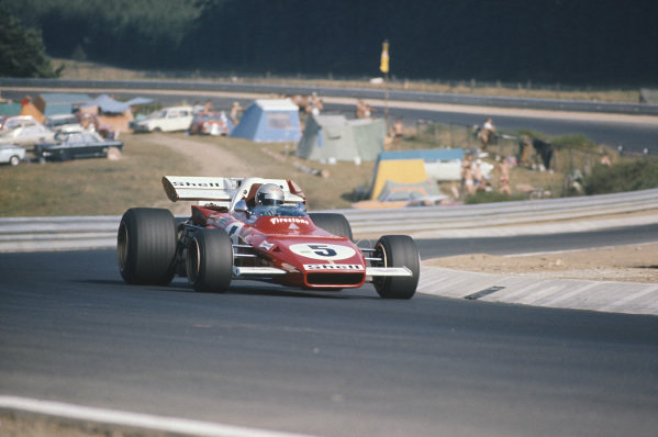 1971 German Grand Prix.  Nurburgring, Germany. 30th July - 1st August 1971.  Mario Andretti, Ferrari 312B2, 4th position.  Ref: 71GER03. World Copyright: LAT Photographic