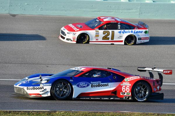 20-22 November, 2015, Homestead, Florida USA Ford GT and Ryan Blaney ? 2015, Nigel Kinrade LAT Photo USA