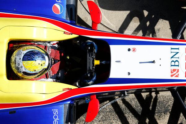 2016 GP2 Series Test 1. Circuit de Catalunya, Barcelona, Spain. Friday 11 March 2016. Philo Paz Armand (INA, Trident)  World Copyright: Sam Bloxham/LAT Photographic. ref: Digital Image _R6T9185