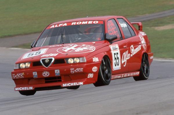 1994 British Touring Car Championship Brands Hatch, Kent, Great Britain Gabriele Tarquini (Alfa Romeo 155 TS).World Copyright: LAT Photographic