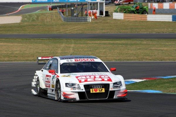Timo Scheider (GER), Audi Sport Team Abt, finished second.DTM, Rd4, Eurospeedway Lausitz, Germany, 18-19 June 2011.
