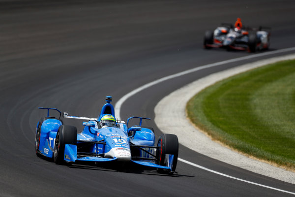 29 May, 2016, Indianapolis, Indiana, USA Tony Kanaan leads Alex Tagliani ?2016, Phillip Abbott LAT Photo USA