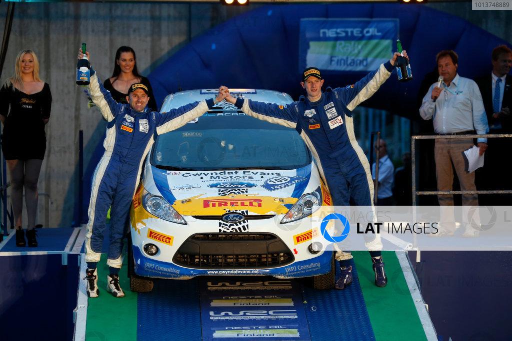 Round 08-Neste Rally Finland 1/8-4/8 2012.Elfyn Evans, Phil Pug, Ford R2, Podium FIA Academy.Worldwide Copyright: McKlein/LAT