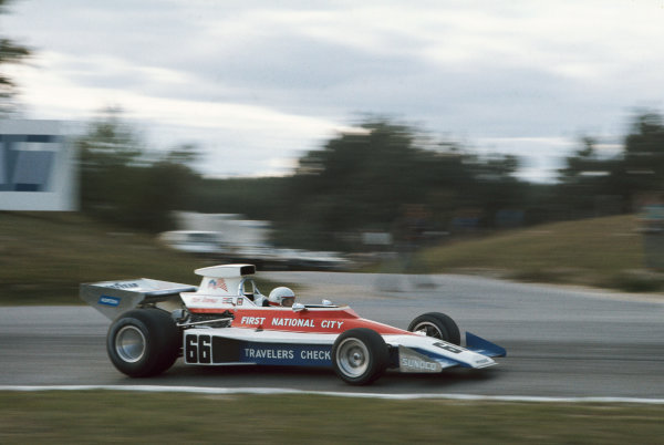 1974 Canadian Grand Prix  Mosport Park, Canada. 22 September 1974.  Mark Donohue, Penske PC1 Ford.  Ref: 74CAN14. World Copyright: LAT Photographic
