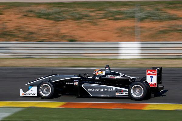 2015 FIA Formula 3 European Championship Testing. Circuit de Valencia, Valencia, Spain. Tuesday 17 March 2015. 7 Charles Leclerc (MCO, Van Amersfoort Racing, Dallara F312 – Volkswagen) Photo: FIA F3 (Copyright Free For Editorial Use Only)