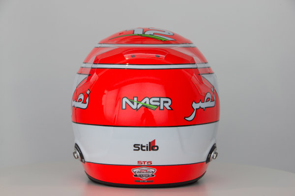 Hinwil, Switzerland. Thursday 29 January 2015. Helmet of Felipe Nasr, Sauber.  World Copyright: Sauber F1 Team (Copyright Free FOR EDITORIAL USE ONLY) ref: Digital Image 2015_SAUBER_HELMET_05