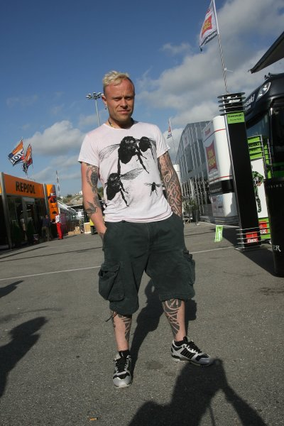 2008 Moto GP ChampionshipJerez, Spain. 28th - 30th March 2008.Firestarter and self-confessed bike nut Keith Flint lead singer of the Prodigy.World Copyright: Martin Heath/LAT Photographicref: Digital Image Only