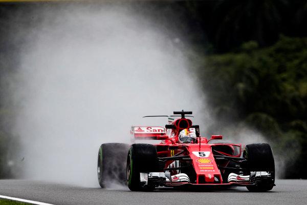 Sepang International Circuit, Sepang, Malaysia. Friday 29 September 2017. Sebastian Vettel, Ferrari SF70H.  World Copyright: Glenn Dunbar/LAT Images  ref: Digital Image _X4I9568