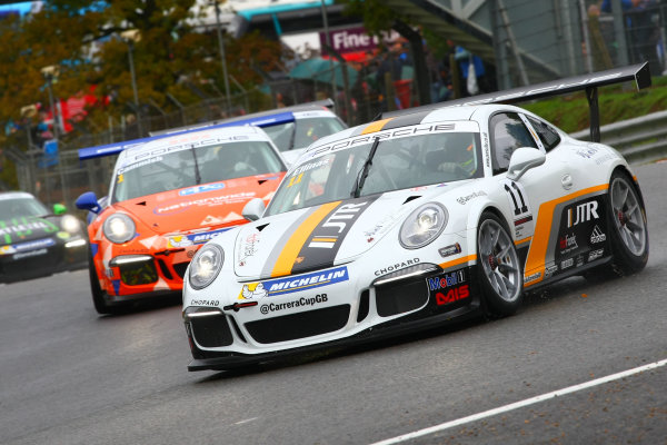 2017 Porsche Carrera Cup GB Brands Hatch, Kent. 30th September - 1st October 2017, Tio Elinas (CYP) JTR Porsche Carrera Cup  World copyright. JEP/LAT Images