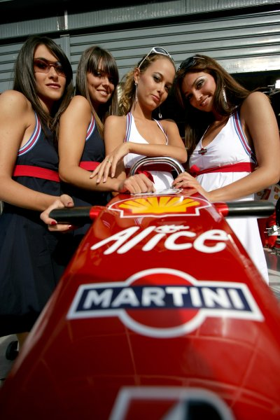 2007 Italian Grand Prix - ThursdayAutodromo di Monza, Monza, Italy.6th September 2007.Martini girls on show in the paddock. Glamour. Atmosphere.World Copyright: Andrew Ferraro/LAT Photographicref: Digital Image VY9E9261