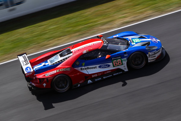 2017 Le Mans 24 Hours Test day, Le Mans, France. 4th June 2017. #68 Ford Chip Ganassi Team UK  Ford GT: Joey Hand, Dirk Muller, Tony Kanaan. World Copyright: JEP/LAT Images.