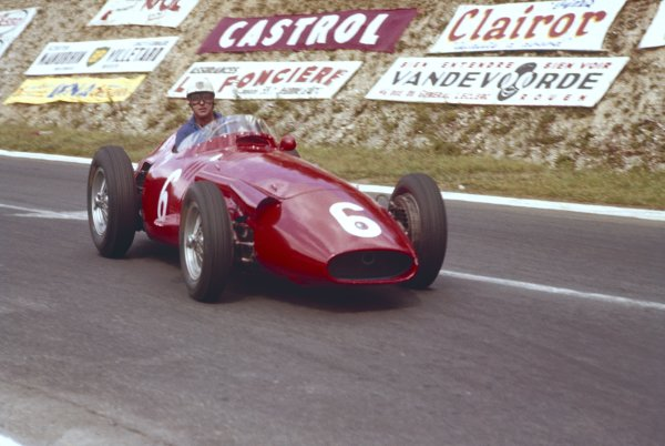 1957 French Grand Prix.Rouen-Les-Essarts, France. 5th - 7th July 1957. Harry Schell (Maserati 250F) 5th position. World Copyright: LAT Photographic.Ref-57 FRA 01.