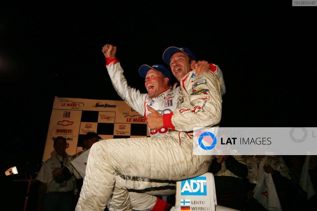 23 - 25 September 2004,Road Atlanta, Georgia, USA. Werner and Lehto celebrate victory.Copyright 2004, Richard Dole, USALAT PHOTOGRAPHIC