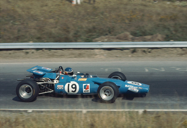 """1969 Canadian Grand Prix.Mosport Park, Ontario, Canada.18-20 September 1969.Georges """"Johnny"""" Servoz-Gavin (Matra MS84 Ford) 6th position.Ref-69 CAN 68.World Copyright - LAT Photographic"""