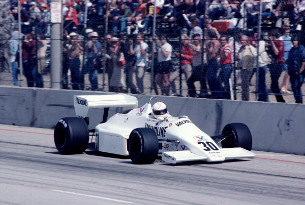 1983 United States Grand Prix West.Long Beach, California, USA.25-27 March 1983.Alan Jones (Arrows A6 Ford).Ref-83 LB 39.World Copyright - LAT Photographic