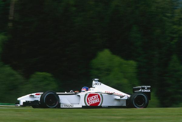 2002 Austrian Grand Prix.A1-Ring, Zeltweg, Austria. 10-12 May 2002.Jacques Villeneuve (B.A R. 004 Honda).Ref-02 AUT 39.World Copyright - Lorenzo Bellanca/LAT Photographic