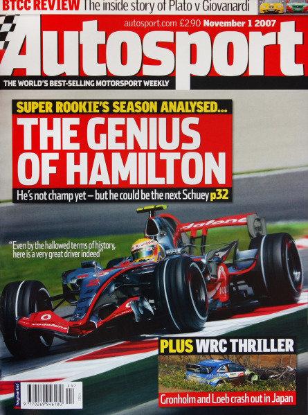 Cover of Autosport magazine, 1st November 2007