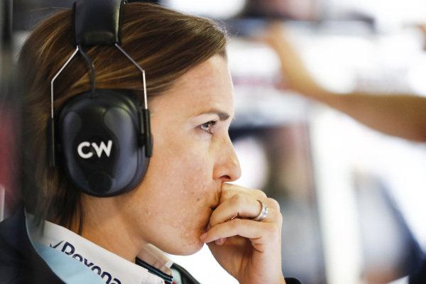 Claire Williams, Deputy Team Principal, Williams Martini Racing.