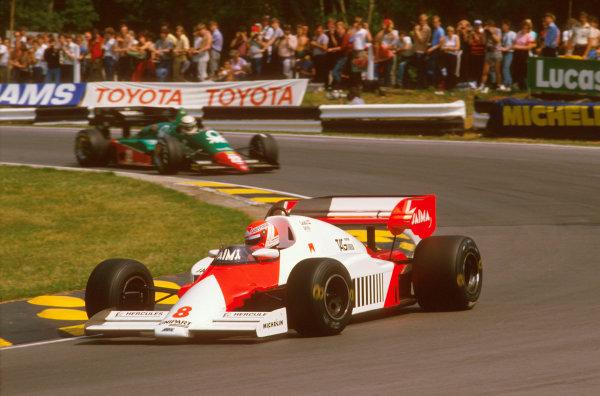 Brands Hatch, England.20-22 July 1984.Niki Lauda (McLaren MP4\2 TAG Porsche) 1st position at Druids.Ref-84 GB 19.World Copyright - LAT Photographic