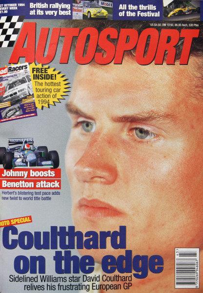 Cover of Autosport magazine, 27th October 1994
