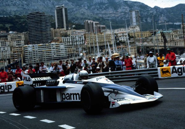 1983 Monaco Grand Prix.Monte Carlo, Monaco.12-15 May 1983.Riccardo Patrese (Brabham BT52 BMW).World Copyright - LAT Photographic