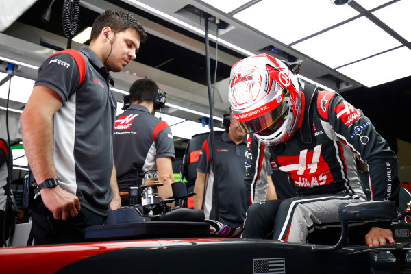 Circuit de Catalunya, Barcelona, Spain. Saturday 13 May 2017. Kevin Magnussen, Haas F1. World Copyright: Andy Hone/LAT Images ref: Digital Image _ONY4671