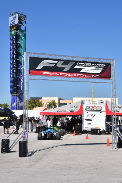 2017 F4 US Championship Rounds 1-2-3 Homestead-Miami Speedway, Homestead, FL USA Friday 7 April 2017 F4 cars heading into tech inspection World Copyright: Dan R. Boyd/LAT Images