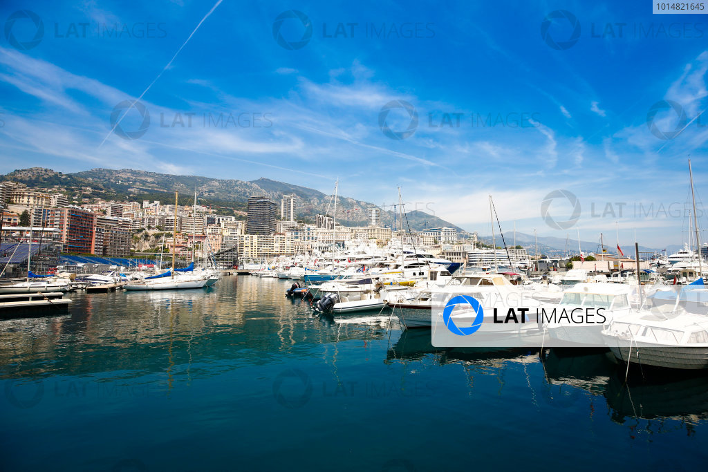 Monte Carlo, Monaco. Wednesday 24 May 2017. Boats in the harbour. World Copyright: Andrew Hone/LAT Images ref: Digital Image _ONZ8215