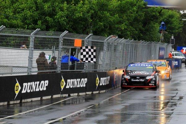 Jonothan Webb (AUS) Mother Energy Drinks DJR Ford, won race 25 for his maiden V8 Supercar race win.Australian V8 Supercars, Rd14, Sydney Telstra 500, Homebush Olympic Park, Sydney, Australia, 3-5 December 2010.