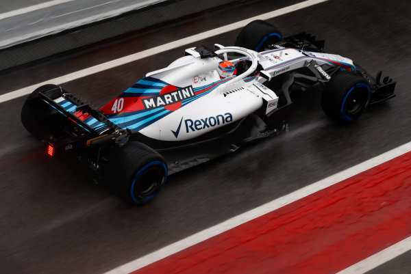 Circuit de Catalunya, Barcelona, Spain. Wednesday 28 February 2018. Robert Kubica, Williams FW41 Mercedes. World Copyright: Glenn Dunbar/LAT Images ref: Digital Image _X4I6490