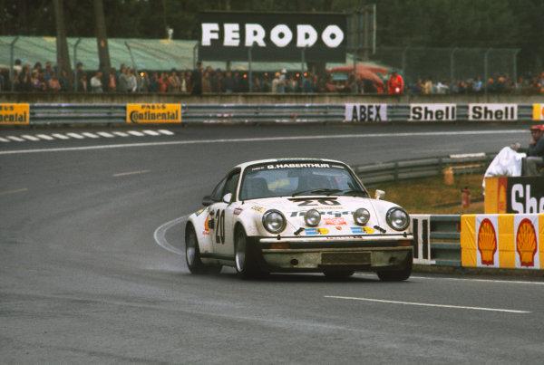 Le Mans, France. 14-15 June 1975 Bernard BŽguin/Peter Zbinden/Claude Haldi (Porsche Carrera T), 15th position, action. World Copyright: LAT PhotographicRef: 75LM16.