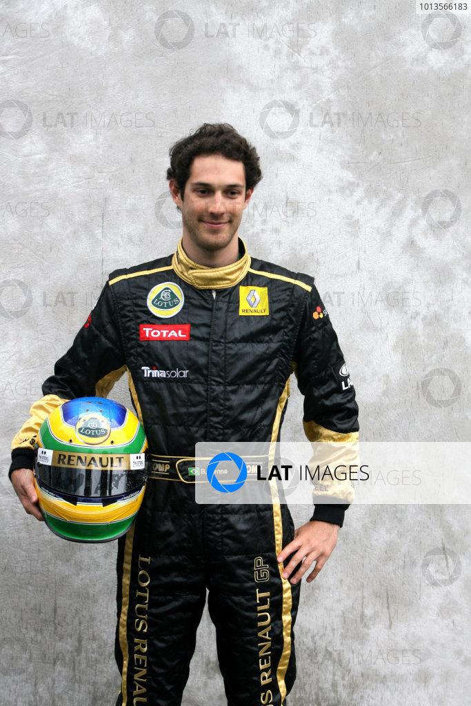 Albert Park, Melbourne, Australia24th March 2011.Bruno Senna, Lotus Renault GP. Portrait. World Copyright: LAT Photographicref: Digital Image1_LC2672