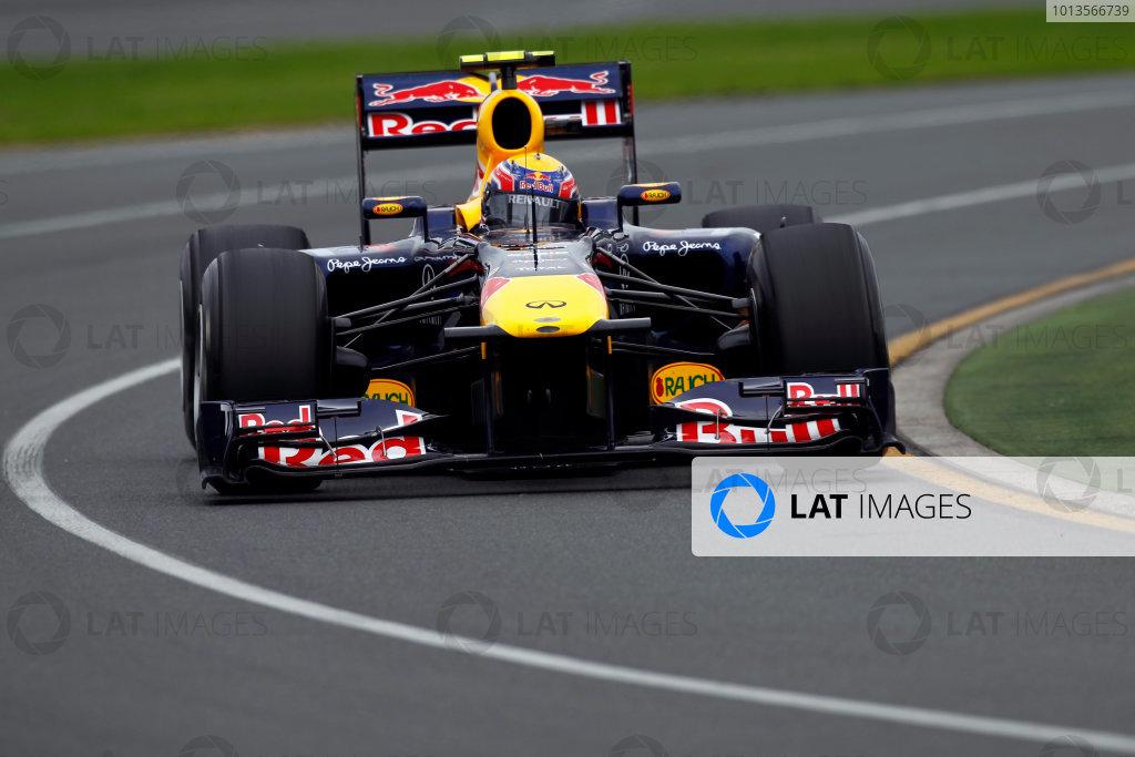 Albert Park, Melbourne, Australia 25th March 2011. Mark Webber, Red Bull Racing RB7 Renault. Action.  World Copyright: Andrew Ferraro/LAT Photographic ref: Digital Image